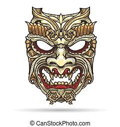悪魔, マスク, 日本語