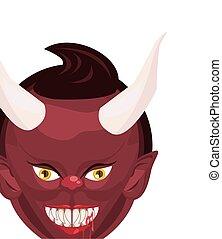 悪魔, 悪魔, 特徴, 頭, ハロウィーン
