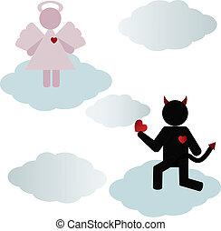 悪魔, 愛, 天使
