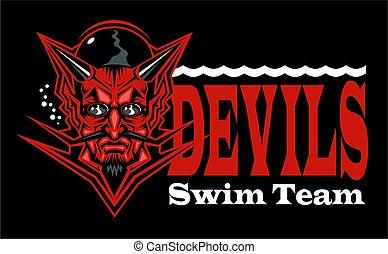 悪魔, 水泳, チーム