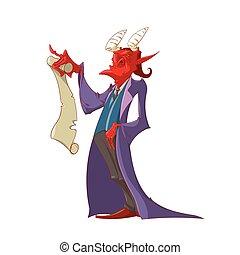 悪魔, 精神, 契約, 保有物