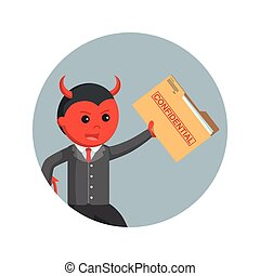 悪魔, 背景, 機密, ビジネス, ファイル, 盗みをはたらく, 円, 人