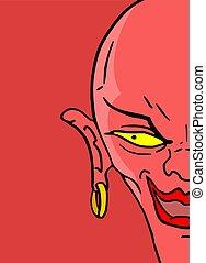 悪魔, 赤ら顔