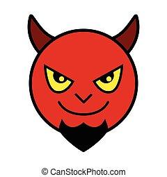悪魔, 赤, アイコン