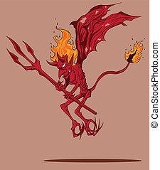 悪魔, 赤
