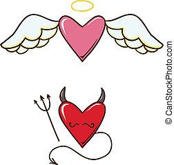 悪魔, hearts., 天使