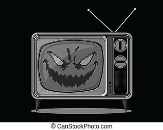 悪, テレビ