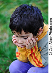 悲しい子供たち, 屋外, 自然