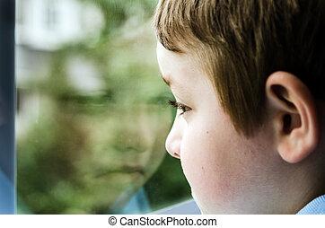 悲しい子供, 窓 から 見ること