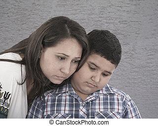 悲しい表現, 母, 息子
