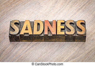 悲しさ, 単語, 抽象的, 中に, 木, タイプ