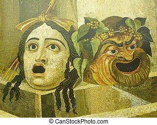 悲劇, そして, 喜劇マスク
