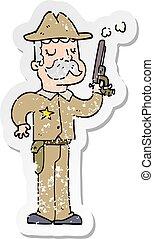悲嘆させられた, ステッカー, 漫画, 保安官