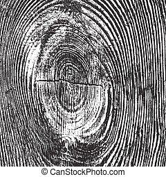 悲嘆させられた, 木製である, 結び目, 手ざわり