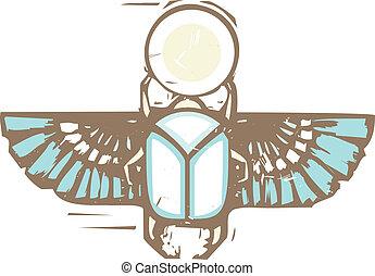 悲嘆させられた, 飛ぶ, オオタマオシコガネ, エジプト人