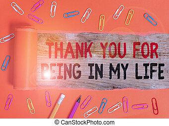 情事, ある, ビジネス, ありがとう, 概念, 誰か, 執筆, life., 提示, side., あなたの, 手, 写真, 私, テキスト