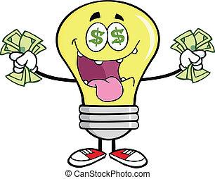 情事, お金, 電球, ライト