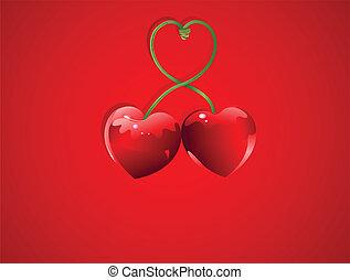 情人節, 櫻桃, 愛