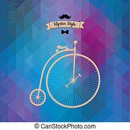 情報通, monocycle., 三角形, 背景