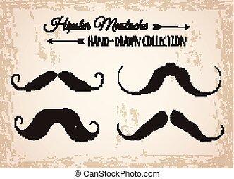 情報通, mustaches.