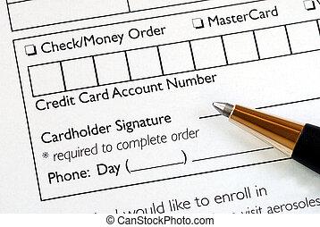 情報, いっぱいになりなさい, カード, クレジット