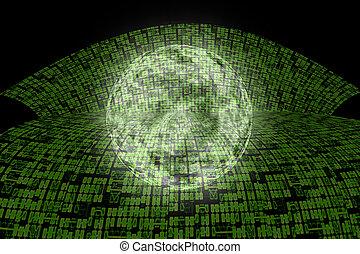 情報, インターネット, world., ハイウェー, 極度
