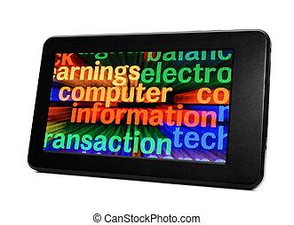 情報, コンピュータ, タブレットの pc