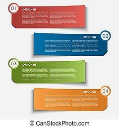 情報, タグ, デザイン, オプション, 要素