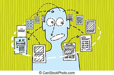 情報, デザイナー, 処理, /, デザイン, データ