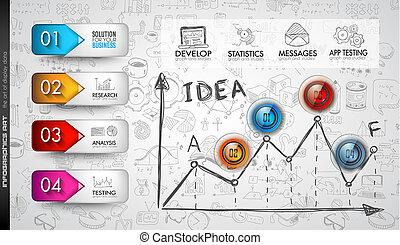 情報, レイアウト, テンプレート, 分析, infographic, きれいにしなさい, データ
