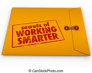 情報, 仕事, 秘密, smarter, アドバイス, 封筒, 黄色, いかに