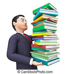 情報, 勉強しなさい, 大学, アドバイザー, ビジネスマン, ショー