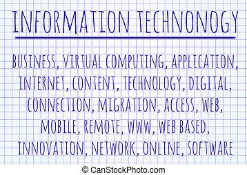 情報, 単語, 技術, 雲