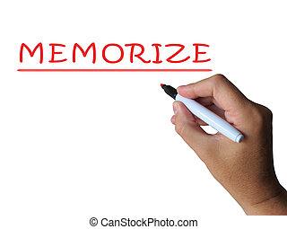 情報, 単語, 暗記しなさい, 手段, 記憶, 約束しなさい