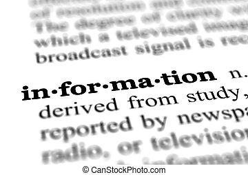 情報, 単語, 辞書