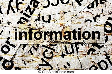情報, 単語, 雲