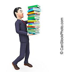 情報, 手段, 勉強, アドバイザー, ビジネスマン, 教育