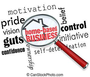 情報, 探索, ビジネス, 拡大する, 基づかせている, 自己, 家, ガラス