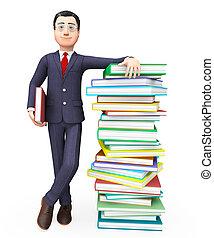 情報, 教育, 取引しなさい, ∥示す∥, ビジネスマン, 専門家