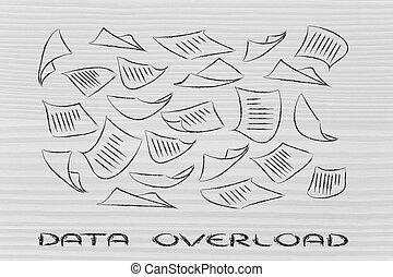 情報, 文書, 構成, 飛行, 空気, 積み過ぎ, 欠乏, データ, ∥あるいは∥