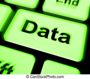 情報, 知識, キーボード, 事実, データ, ショー