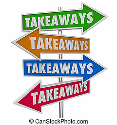 情報, 知識, takeaways, イラスト, 矢, サイン, 新しい, 3d