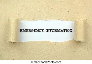 情報, 緊急事態