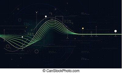 情報, 資源, 財政, ビジネス, グラフ, 提示, 流れ, ダッシュボード, 知性, データ