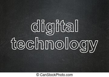 情報, concept:, デジタルの技術, 上に, 黒板, 背景