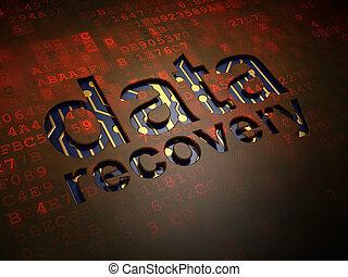 情報, concept:, データ, 回復, 上に, デジタル, スクリーン, 背景