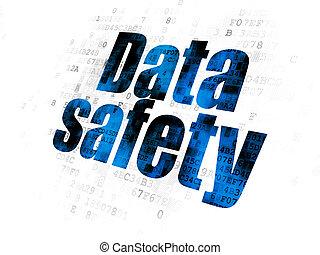 情報, concept:, データ, 安全, 上に, デジタルバックグラウンド