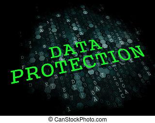 情報, concept., 技術, protection., データ