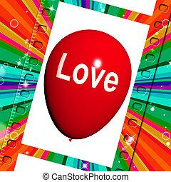 情愛が深い, 愛, balloon, 感じ, 愛着, ショー