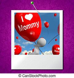 情愛が深い, 愛, moth, 写真, mommy, 感情, 風船, ショー